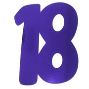 Cardboard Cutout Number 18 purple