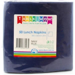 lunch napkins navy blue