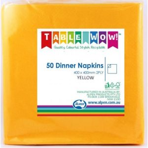 lunch napkins yellow