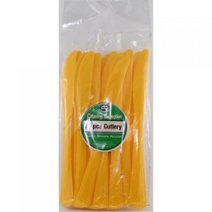 plastic knives yellow