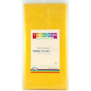 rectangle table cover yellow