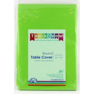 round table cover green
