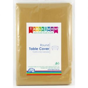 round table cover gold