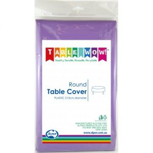 round table cover purple