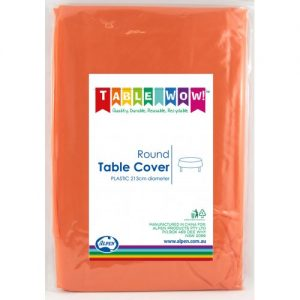 round table cover orange