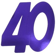 Cardboard Cutout Number 40 purple