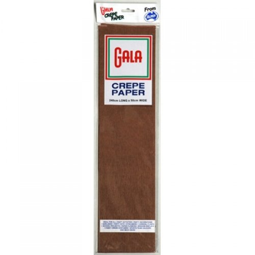 gala crepe paper dark brown