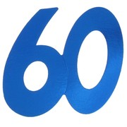 Cardboard Cutout Number 60 blue