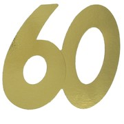 Cardboard Cutout Number 60 gold