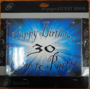 30th birthday guest book