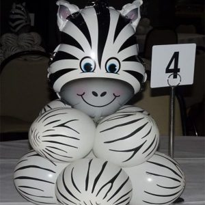 Party Werks balloon base zebra
