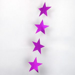 star garland cerise