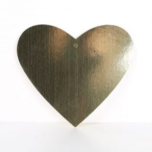 Cardboard Cutout Heart Gold