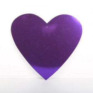 Cardboard Cutout Heart Purple