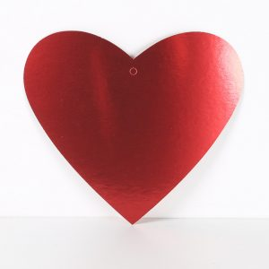 Cardboard Cutout Heart Red