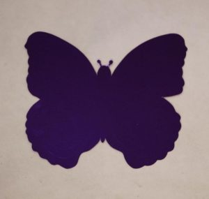cardboard cutout butterfly purple