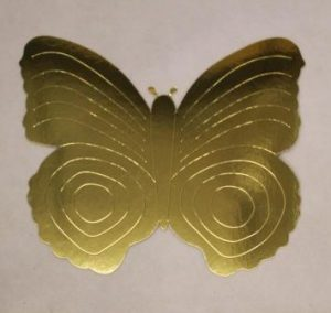 cardboard cutout butterfly gold