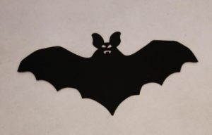 Cardboard Cutout bat black