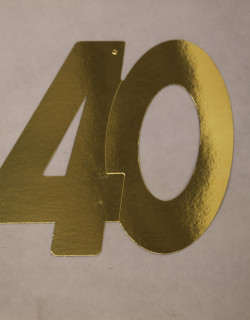 Cardboard Cutout Number 40 gold