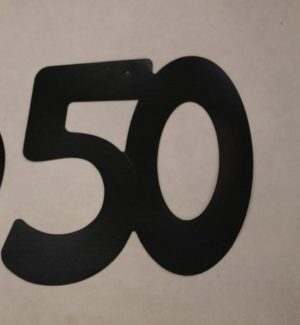 Cardboard Cutout Number 50 Black