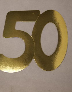 Cardboard Cutout Number 50 gold