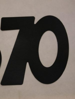 Cardboard Cutout Number 70 black