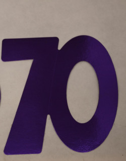 Cardboard Cutout Number 70 purple