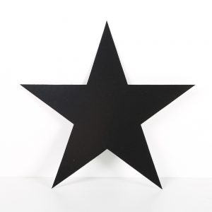 Cardboard Cutout Star Black