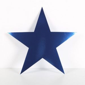 Cardboard Cutout Star Blue