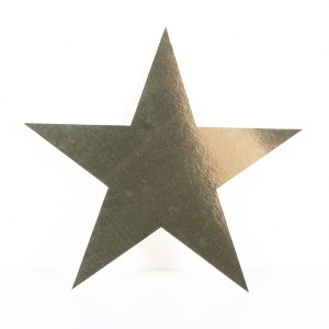 Cardboard Cutout Star Gold