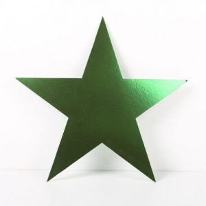 Cardboard Cutout Star Green