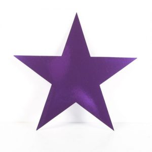 Cardboard Cutout Star purple