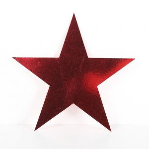Cardboard Cutout Star red