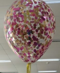 confetti filled helium balloon 40cm