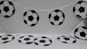 Soccer Ball Bunting flag, soccer ball flag string