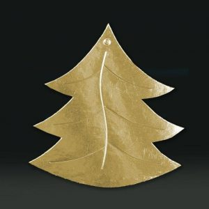 cardboard cutout xmas tree gold
