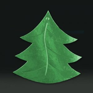 Cardboard cutout xmas tree green