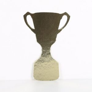 cardboard cutout trophy cup gold