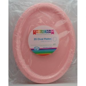 oval plate light pink