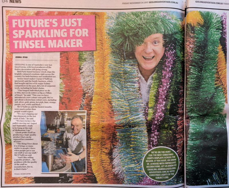Party Werks-tinsel in Geelong Addy 2017