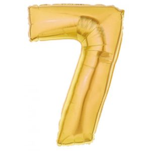#7 gold foil number balloon