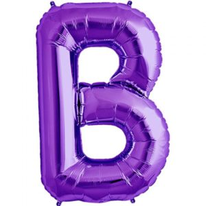 B- purple foil letter balloon.jpg