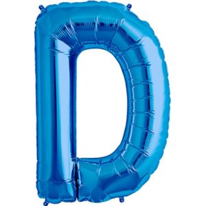 D-blue foil letter balloon