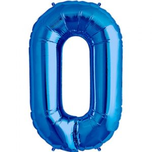 O-blue foil letter balloon