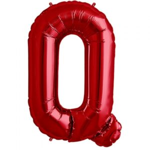 Q-red foil letter balloon