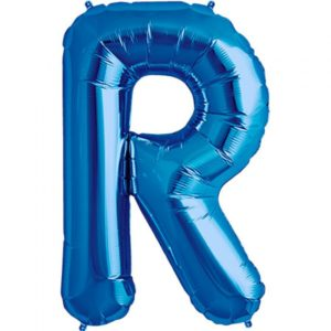 R-blue foil letter balloon