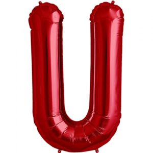 U-red foil letter balloon