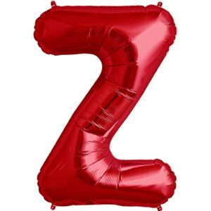 Z-red foil letter balloon